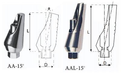 Титановые абатменты угловые