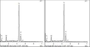 Образцы имплантатов Iterum, подвергшихся обдувке оксидом алюминия и кислотной обработке