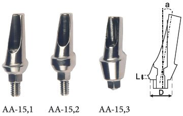 Анатомический угловой абатмент 15° с уступом